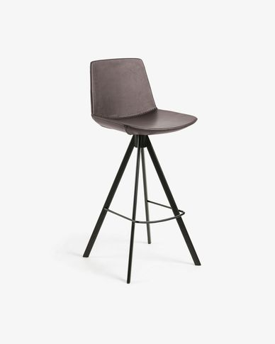 Dark brown Zeva barstool height 75 cm