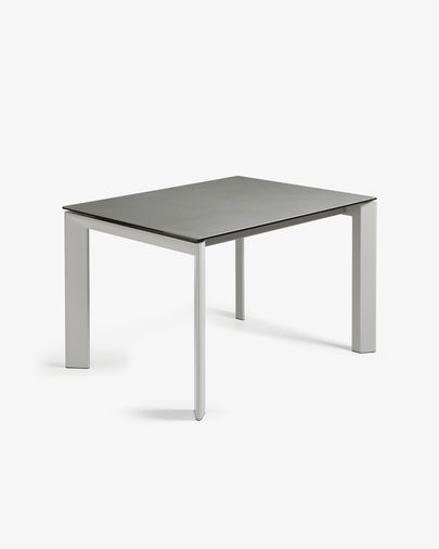 Extendable table Axis 120 (180) cm porcelain Hydra Lead finish gray legs