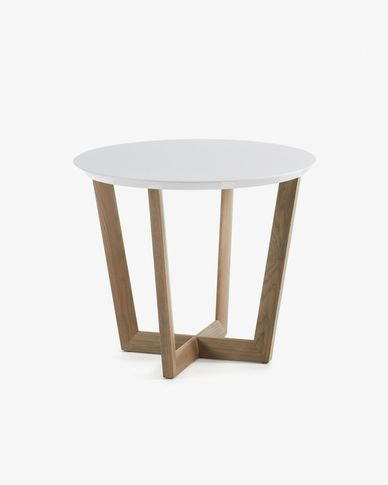 White and oak Hodor coffee table Ø 60 cm