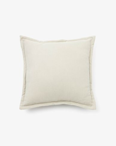 Lisette cushion cover 45 x 45 cm in white