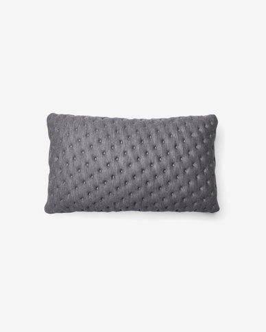 Kam cushion cover quilted 30 x 50 cm grey