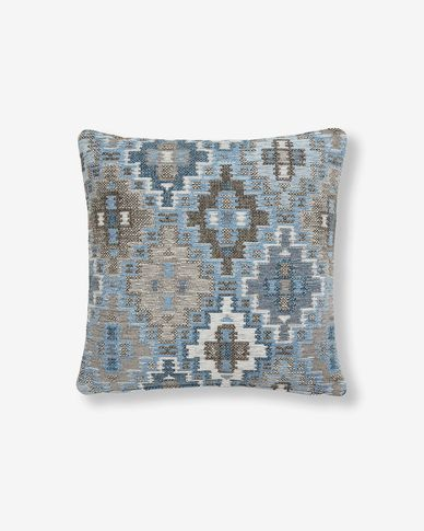 Nazca cushion cover 45 x 45 cm blue