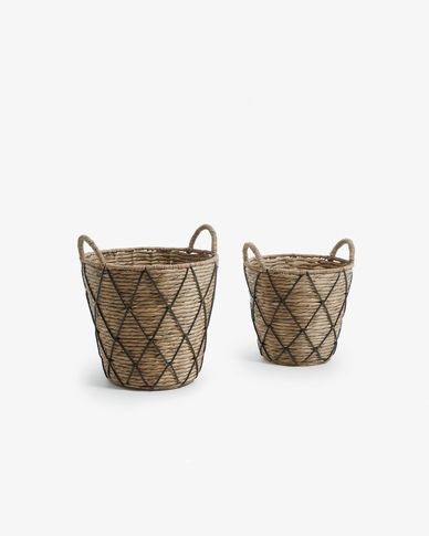 Mast set of 2 baskets black