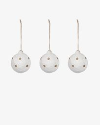 Galia spotted bauble set
