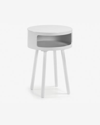 White Kurb B side table Ø 40 cm