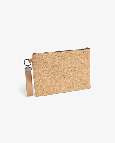 Small bag Foa natural cork with zipper