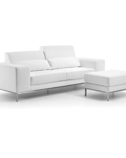 Sofa Polo 2 plazas, blanco
