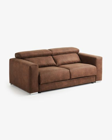 Rust brown 3-seater Atlanta sofa 210 cm