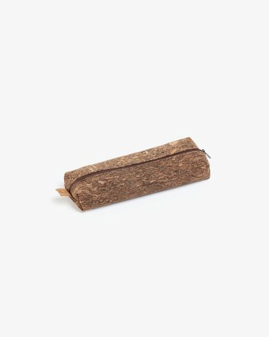Pencil case Foa dark cork with zipper