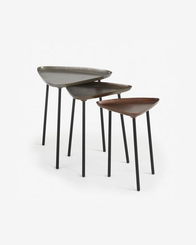 Set Iver of 3 nesting tables