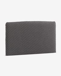 Grey Dyla hearboard cover 160 cm