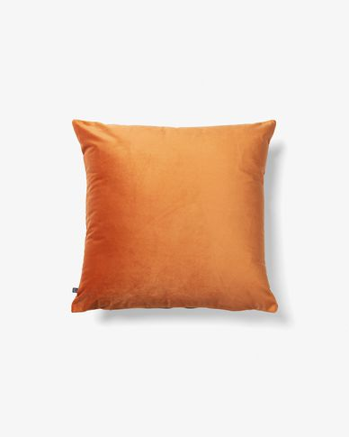 Lita cushion cover 45 x 45 cm orange velvet