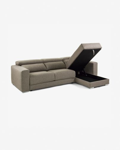 Atlanta bank chaise longue bruin 290 cm