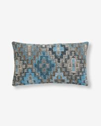 Nazca cushion cover 30 x 50 cm blue