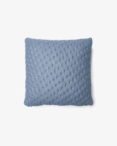 Kam cushion quilted 45 x 45 cm light blue