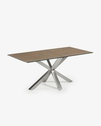 New Argo table 180x100, Stain Steel Porcelain Iron Corte