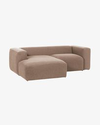 Blok 2-sitzer Sofa mit Chaiselongue links 240 cm, rosa