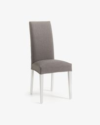 Grey and white Freda chair