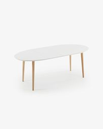 Oqui extendable Oval table 120 (200) x 90 cm white