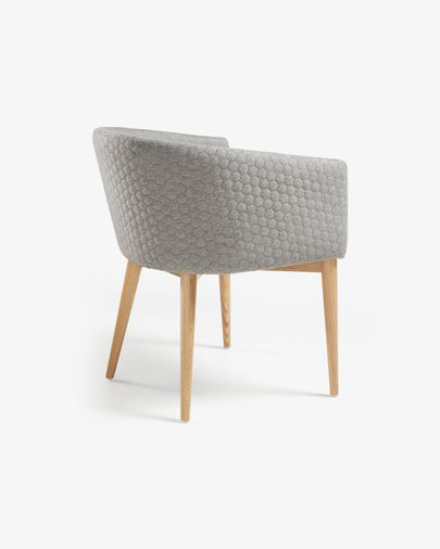 Light grey and natural Harlan chair