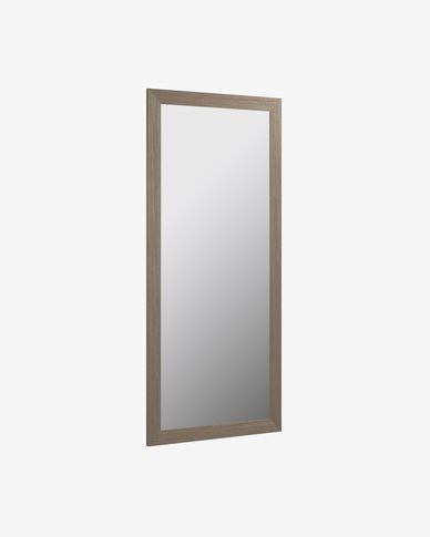 Yvaine mirror wide frame walnut finish 80,5 x 180,5 cm