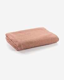 Miekki large bath towel pink