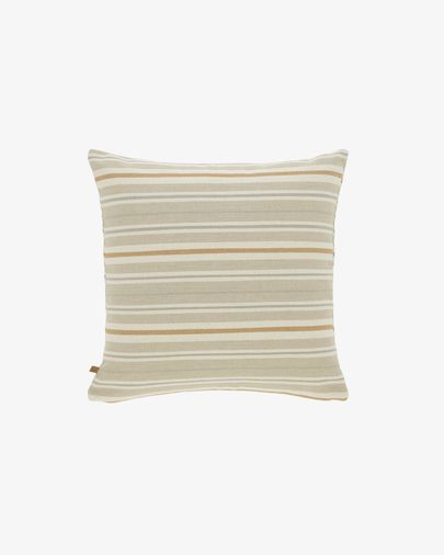 Sydelle striped brown cushion cover 45 x 45 cm