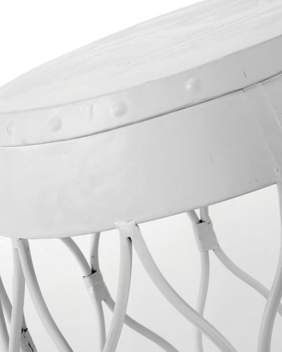 Abass Side table, white