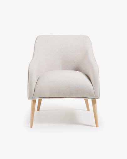 Beige Bobly armchair