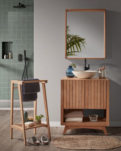 Rectangular bathroom furniture Kuveni 70 x 92 cm