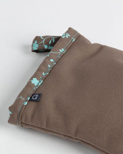 Oven mitt Shire brown with flowers