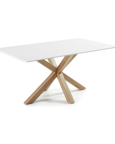 New Argo table 160x90, Steel in Sonoma Lacquered white
