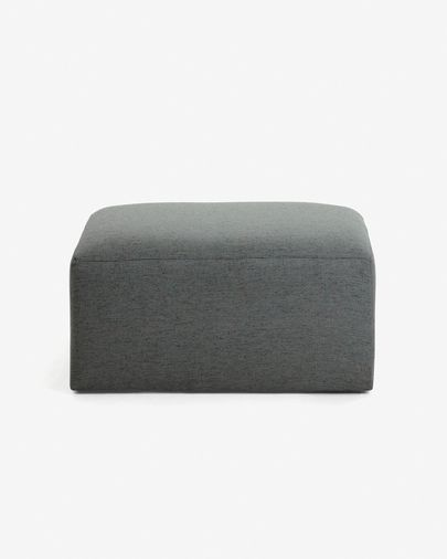 Blok pouf dark grey