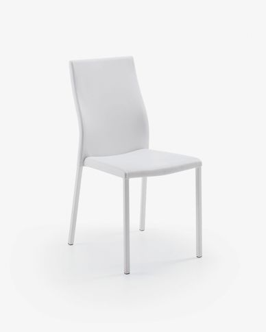 Abelle chair white leather