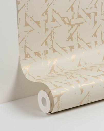 Viveka 10 x 0,53 m beige and gold wallpaper
