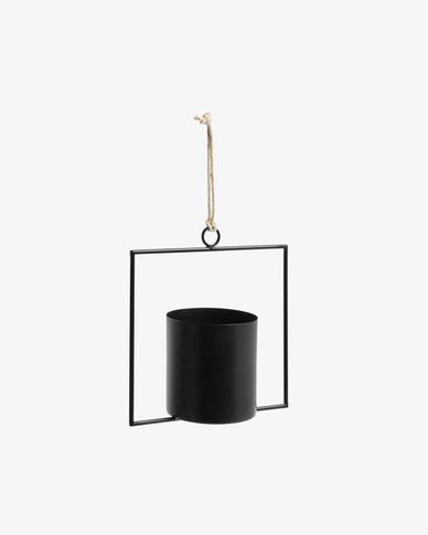 Hanging plant pot Helena black