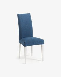 Dark blue and white Freda chair
