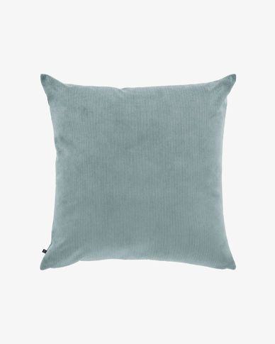 Turquoise corduroy Namie cushion cover 60 x 60 cm