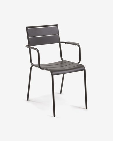 Allegian matte graphite chair