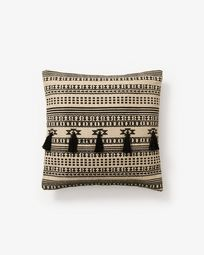 Cushion cover Seward beige and black