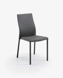 Grey leather Abelle chair