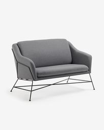 Anthrazit Brida Sofa 128 cm