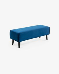 Blue velvet bench cover Dyla