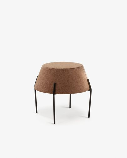 Button side table in light cork
