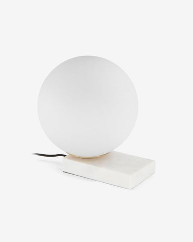 Manz white table lamp
