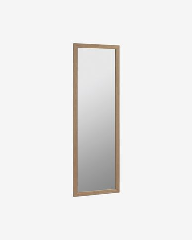 Nerina wide frame with walnut finish mirror 52,5 x 152,5 cm