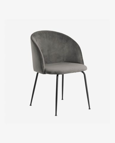 Chair Laudelina grey velvet