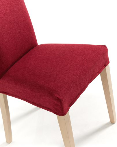 Freda chair burgundy and natural