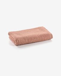 Miekki small bath towel pink