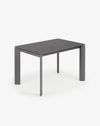 Extendable table Axis 120 (180) cm porcelain Vulcano Roca finish anthracite legs